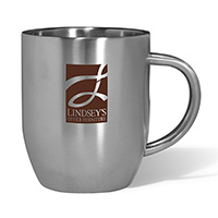 12 oz. Double Wall Stainless Steel Coffee Mugs