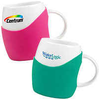 14 oz. Ceramic Mugs with Silicone Grip