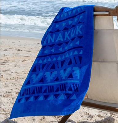"Small Terry Velour Color Beach Towels, 24"" x 42"""
