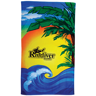 "Beach Scene Stock Design Towels, 60"" x 35"""
