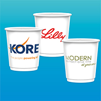 9 oz. Double Wall Insulated Paper Cups - Gloss Finish