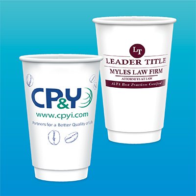 16 oz. Tall Double Wall Insulated Paper Cups - Matte Finish