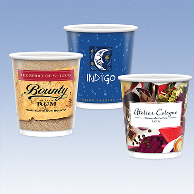 9 oz. Full Color Double Wall Insulated Paper Cups - Gloss