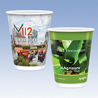 12 oz. Full Color Tall Double Wall Insulated Paper Cups - Matte