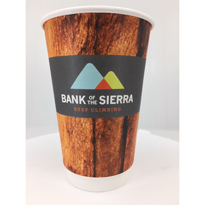 16 oz. Full Color Tall Double Wall Insulated Paper Cups - Matte
