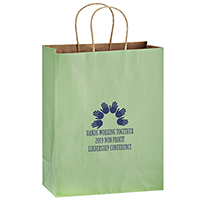 5 x 8 Colored Matte Paper Shopping Bags - Flexo Ink