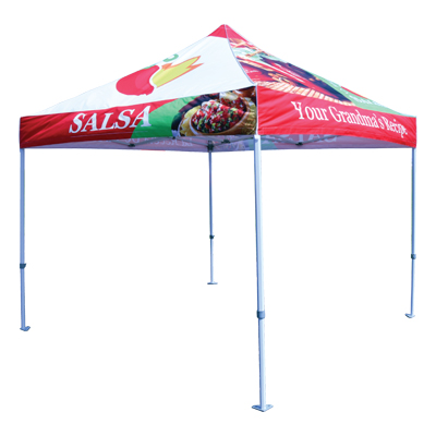 Premium Frame 10' x 10' Canopy Tents - Full Coverage Print