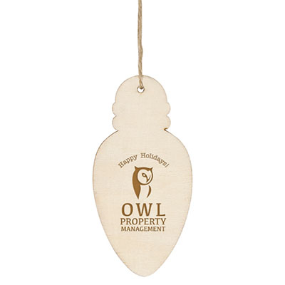 Economy Wooden Ornaments - Bulb Shape