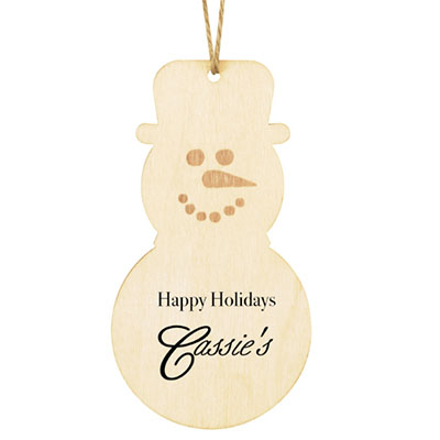 Economy Wooden Ornaments - Snowman Shape