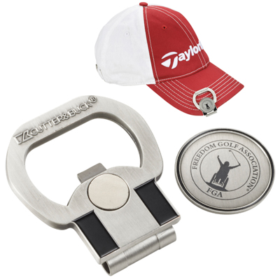 Cutter & Buck Hat Clips w/ Ball Marker & Bottle Opener