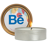 2 oz. Scented Candles in Screw-Top Metal Tins