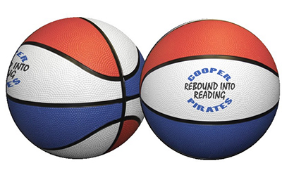 Mini Red, White & Blue Rubber Basketballs - 7""