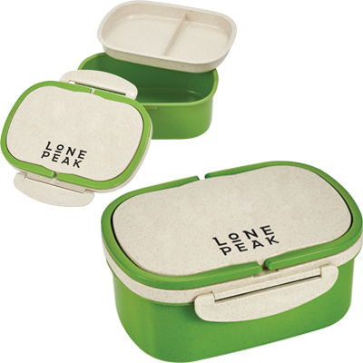 Plastic and Wheat Straw Lunch Box Containers