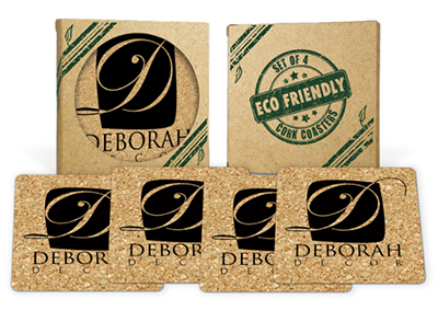 Square Cork Coaster Sets