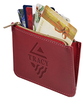 Leeman Tuscany RFID Zip Wallet Pouches