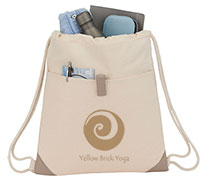 Recycled Cotton Drawstring Backpacks
