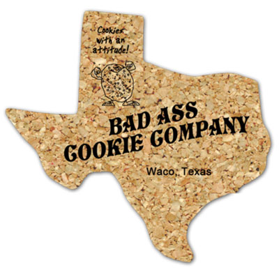 Texas Shaped Cork Coasters