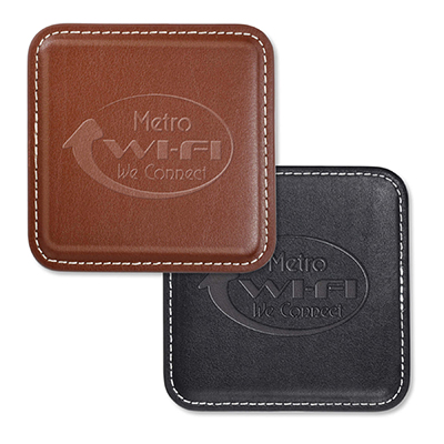 Vintage Square Leather Coasters