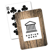 Woodgrain Backed Playing Cards