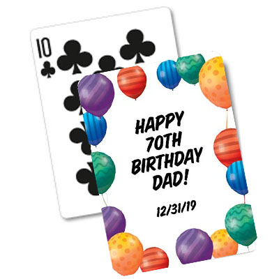 Balloon Backed Playing Cards