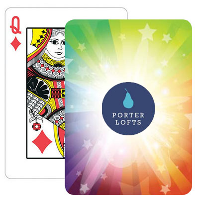 Rainbow Starburst Dazzle Playing Cards