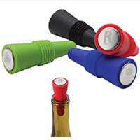 Silicone & Stainless Steel Wine Stoppers