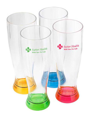 24 oz. Bruski Acrylic Pilsner Glasses