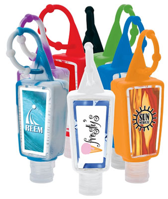 Amore 1 oz. Hand Sanitizers with Silicone Caddy