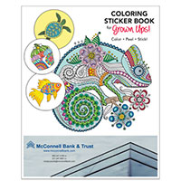 Coloring Sticker Books - Adults