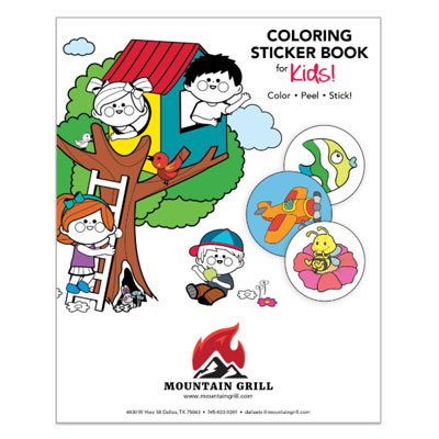 Coloring Sticker Books - Kids