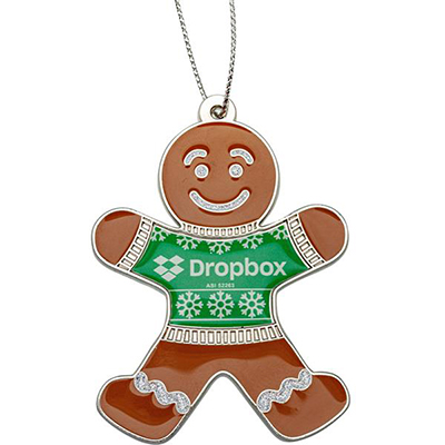 Die Cast Gingerbread Man Ornaments