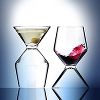 Vino Tini 2 in 1 Cocktail Wine Glasses