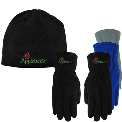 Fleece Beanie and Gloves Combo Sets