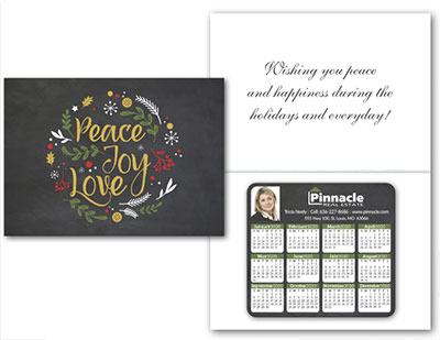 Greeting Cards with Magnetic Calendar