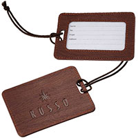 Dakota Wood Look Luggage Tags