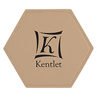 Hexagonal Leatherette Coasters