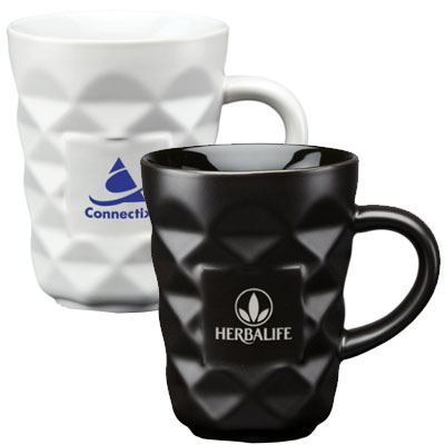 12 oz. Ceramic Diamond Mugs