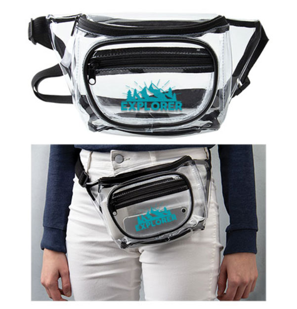 Clear Fanny Packs - 2 Pockets