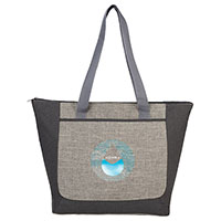 Reclaim Two-Tone Recycled Zippered Totes