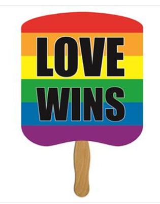 Full Color Love Wins Hand Fans