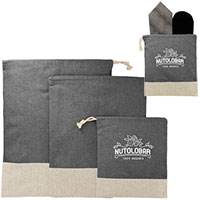Recycled 3 Piece Travel Pouch Sets