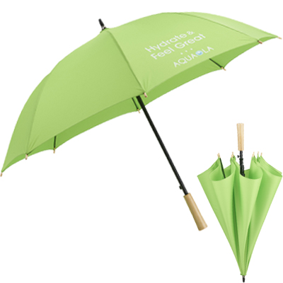 "Recycled PET Auto Open Fashion Umbrellas - 48"" Arc"
