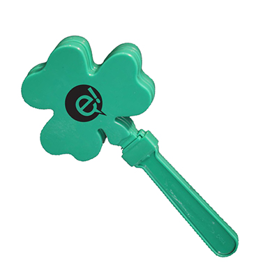 Green Shamrock Hand Clappers