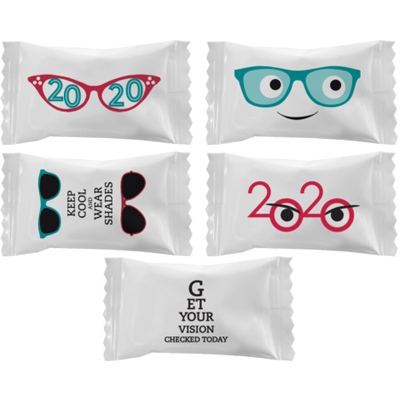 Buttermints with Stock Printed Wrapper – Eye Care Designs