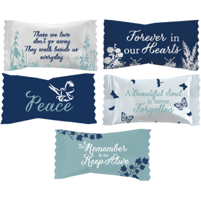 Peppermints with Stock Printed Wrapper – Funeral Home Designs