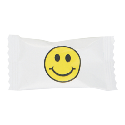 Buttermints with Stock Printed Wrapper – Smiley Face