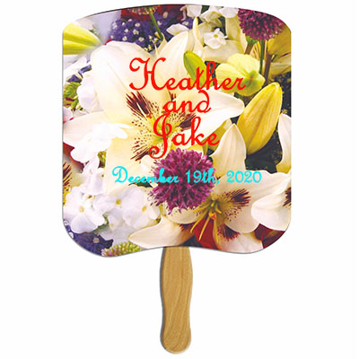 Lily Bouquet Hand Fans
