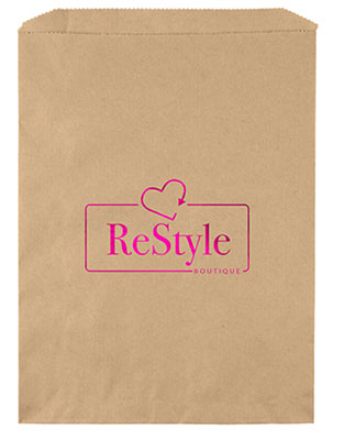 9 x 12 Kraft Merchandise Bags with Foil Imprint