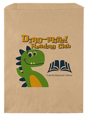 9 x 12 Kraft Merchandise Bags with Full Color Direct Print
