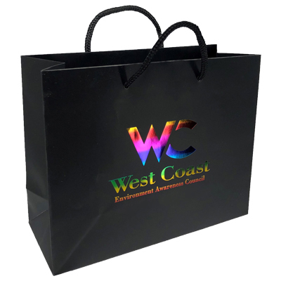 10 x 8 Matte Laminated Euro Tote Bags - Rainbow Foil